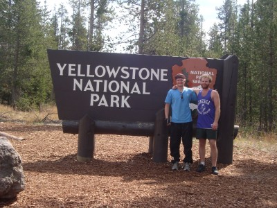 Bikig through Yellowstone