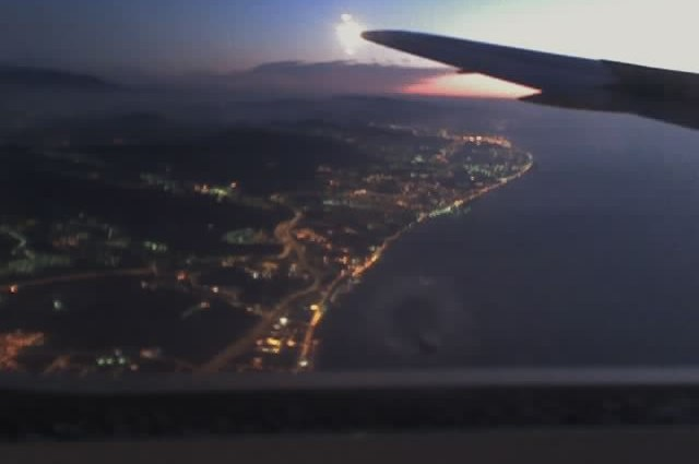 flying into Barcelona from NYC