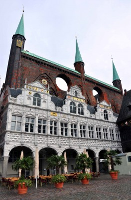 The Rathaus and Marketplace are at the heart of Lübeck's old town. Photo by Katherine Rodeghier