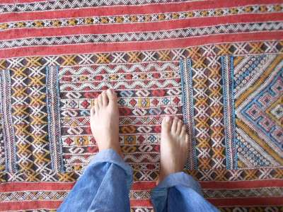patterns in a Moroccan carpet