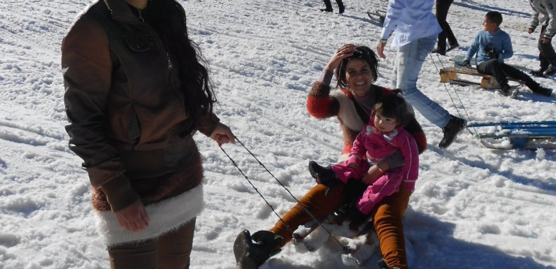 What am I doing here? Sledding with Moroccan Snow Bunnies
