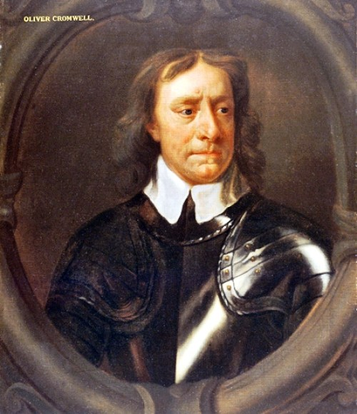 Oliver Cromwell in a painting by Peter Lely