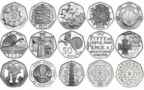 The 50p coin has featured a series of commemorative designs celebrating important events and organisations