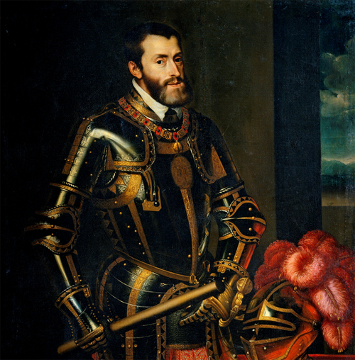Emperor Charles V By Tiziano Vecellio (english Wiki) [Public domain], via Wikimedia Commons
