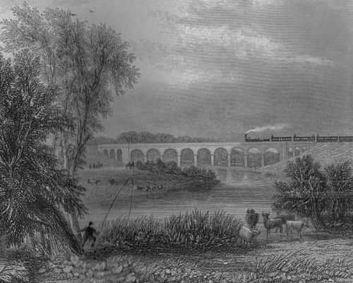 The Avon viaduct on the London and Birmingham railway By Roger Griffith [Public domain], via Wikimedia Commons