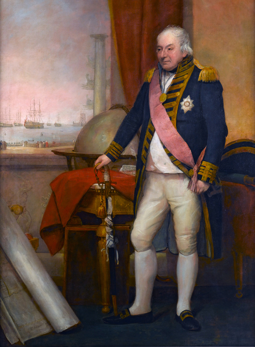 Admiral John Jervis (1735-1823), 1st Earl of St Vincent By Domenico Pellegrini (1759-1840) (National Maritime Museum website) [Public domain or Public domain], via Wikimedia Commons