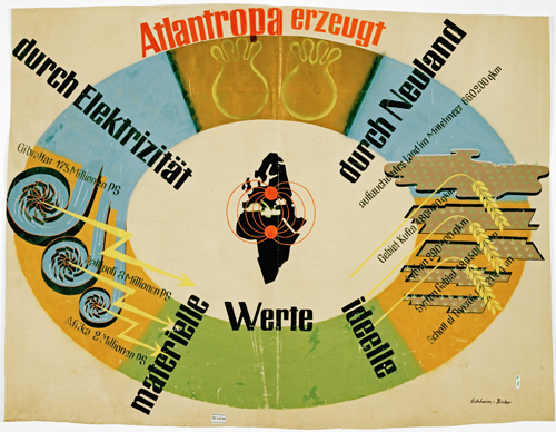 Exhibition poster from the Atlantropa / Panropa project