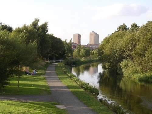The much smaller Forth and Clyde Canal