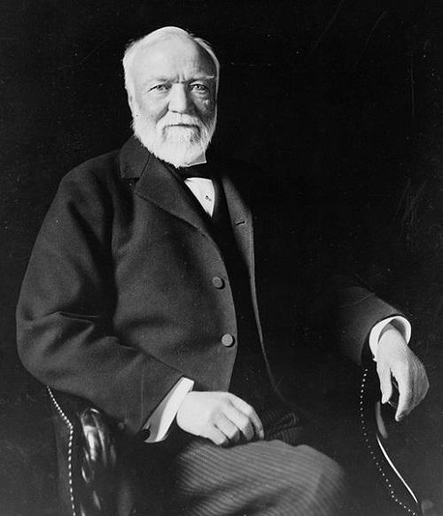 Portrait of Andrew Carnegie Theodore C. Marceau [Public domain], via Wikimedia Commons