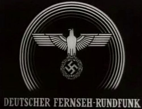 Title screen for the experimental and short-lived Deutscher Fernseh-Rundfunk (German Television Broadcasting)