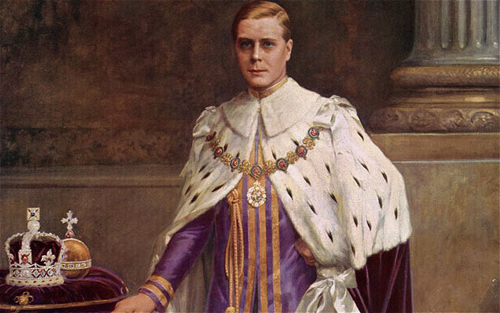 Coronation portrait of Edward VIII (Illustrated London News)