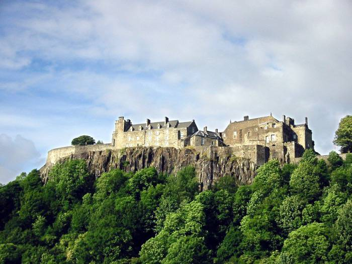 A photograph of Stirling Castle, in Stirling, Scotland.