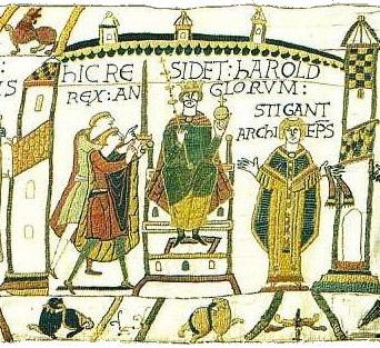KingHarold_Coronation_BayeuxTapestry