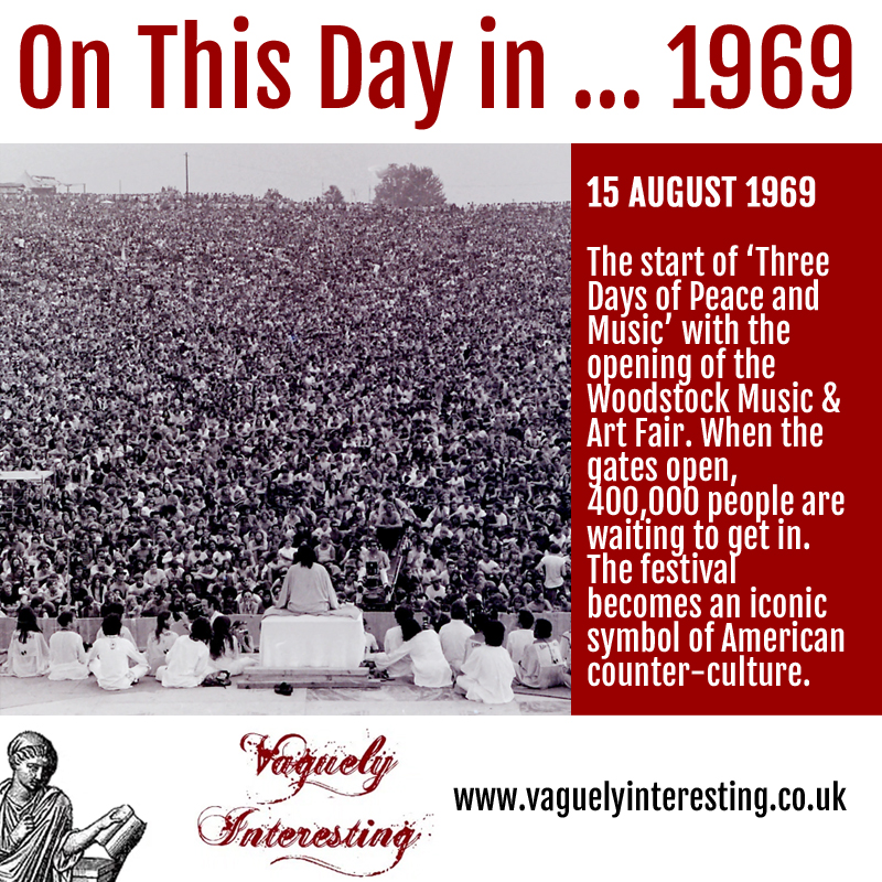 15 08 1821 On this day Woodstock opens