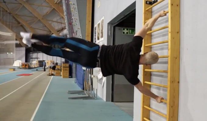 human flag jumps