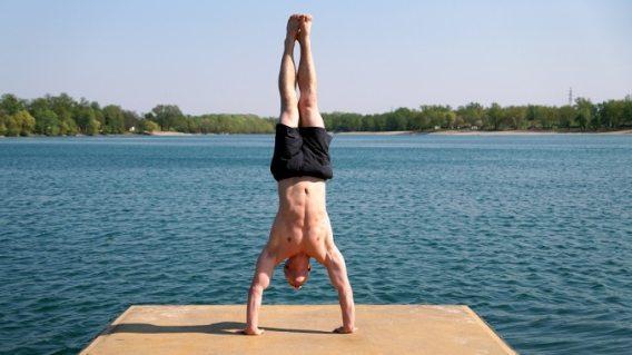 handstand yoga movement
