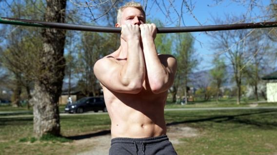 shield pull ups for inner head of biceps