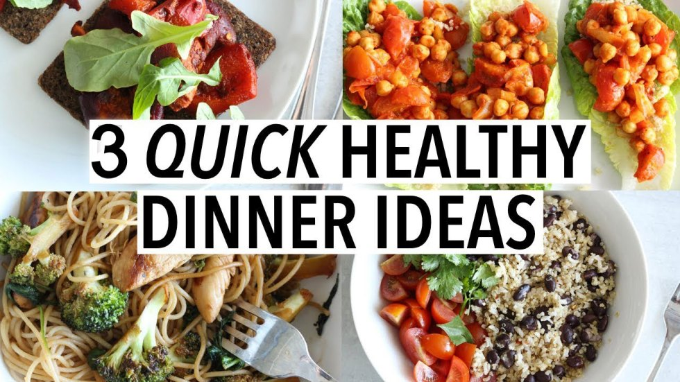 Quick Healthy Dinner Idea - Fit Tuber Today I will share with you 3 healthy dinner options which you can easily make at your home without much afford. Fit Tuber