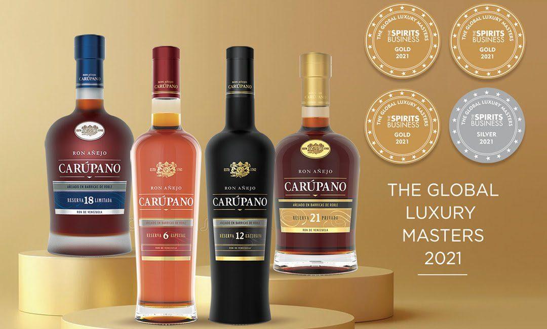Ron Carúpano triunfa como la marca de ron más premiada en The Luxury Masters 2021