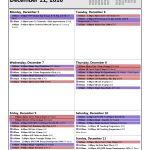 Training Calendar: Dec 5 - 11