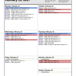Training Calendar: Feb 13-19