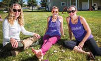 5. Volunteers Torrey Benson, Kelsey Cole and Kelley O'Kelly relaxing in the sun.
