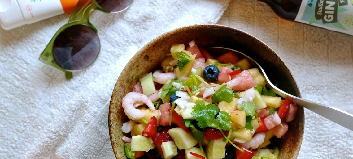 Suolainen hedelmäsalaatti