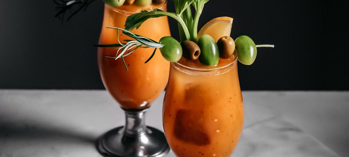 Keltainen gazpacho cocktail (aka kännigazpacho 2.0)
