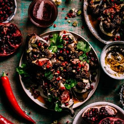 Paistetut kanan sydämet arabialaisin maustein