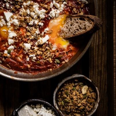 Harissa shakshouka – ei vain brunssiruokaa!