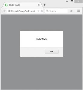 JavaScript Hello World