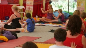 Ouder en kind yoga workshop