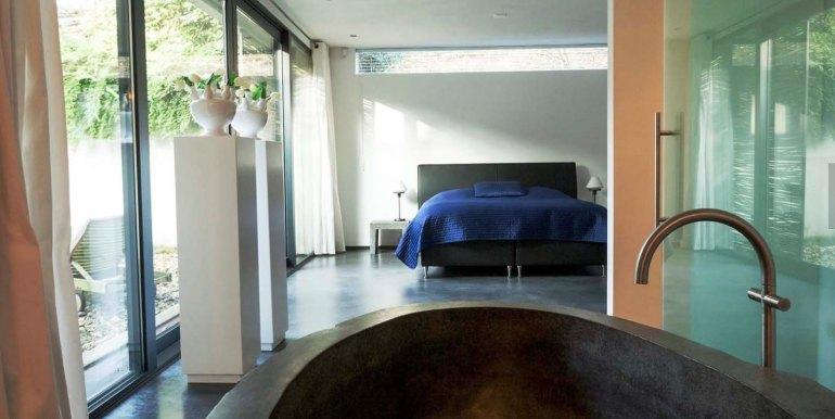 Betonnen boshuis landgoed Bergvliet design vakantiehuis