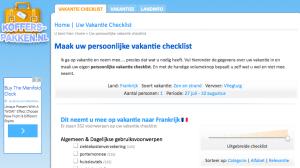Checklist Koffers Pakken