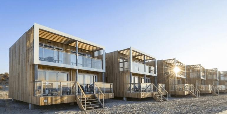 Landal strandhuis Hoek van Holland slapen op het strand