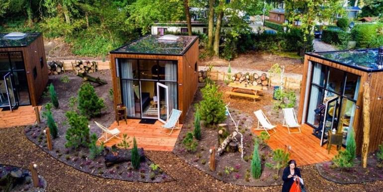 Vakantie in een Tiny House Droompark Buitenhuizen Amsterdam Noord Holland.