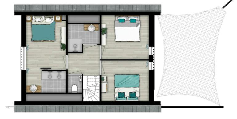 Luxe stijlvolle 6-persoons vakantiehuis, Ridderstee Ouddorp Duin 01