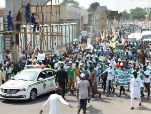 Pro-SARS/SWAT Protest Holds In Support Of SARS In Kano (Photos)