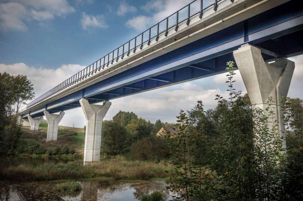 Most Václavice - dokončená stavba Valbek