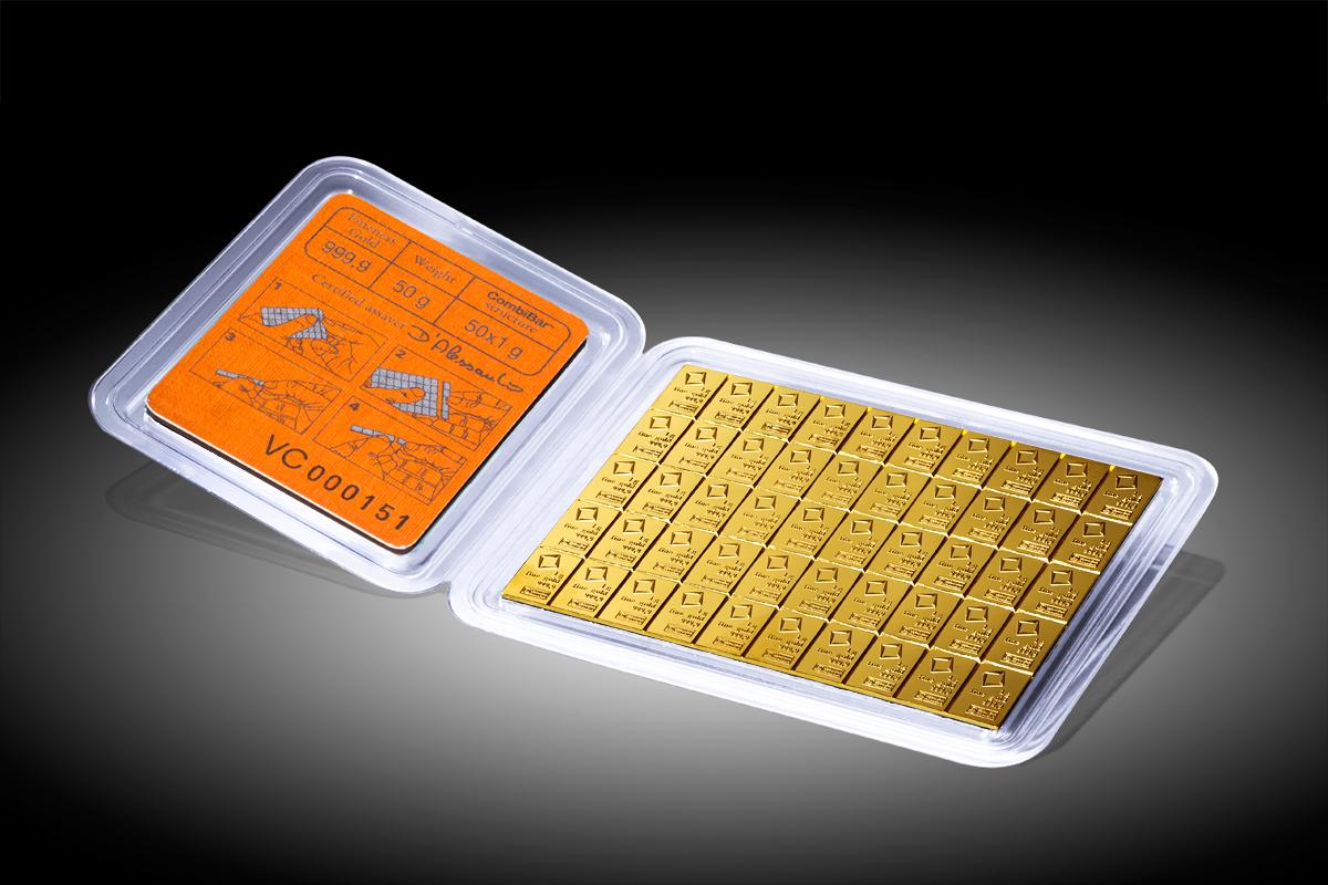50 X 1 G Gold Combibar