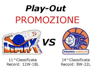 Turno Play-Out Promozione: Limax Clivio-Pall. Albizzate