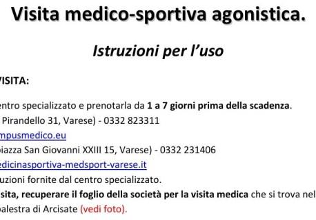 INFO VISITA MEDICO SPORTIVA (AGONISTICA)