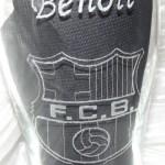 Gravure sur verre logo foot FCB