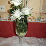 vase en verre gravure mariage colombe