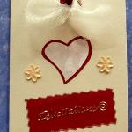 carte félicitation mariage coeur rouge crème