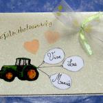 carte félicitation mariage tracteur