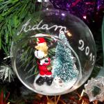 boule en verre renne gravure prénom noel 2013