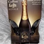 coffret 2 verres à leffe royal gravure prénom personnalisé et sa grande leffe royale