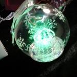 boule lumineuse verte gravure prenom
