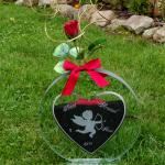 vase coeur mariage gravure ange
